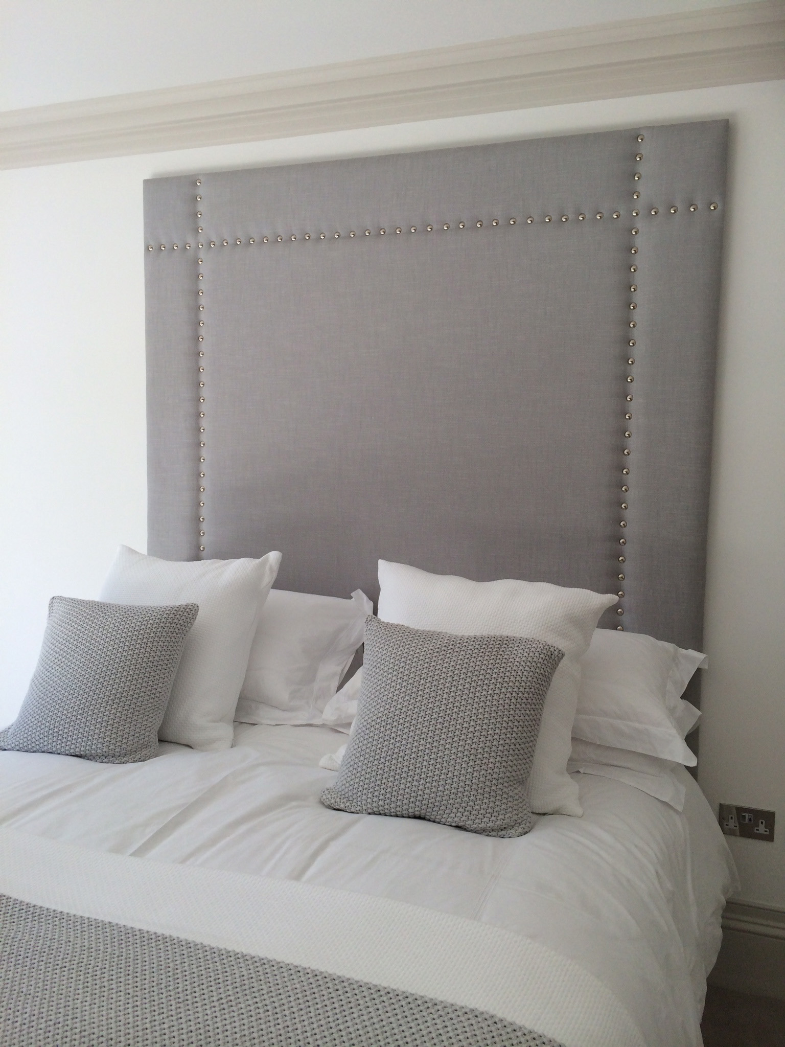 Panelled Studded Headboard