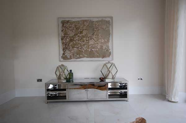 Interior design picture of a low table designed by Babayan Pearce